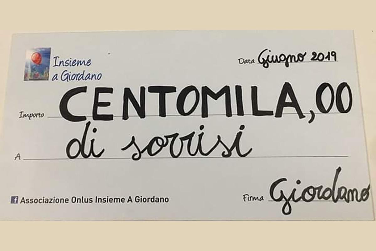 Primi 100.000 € donati