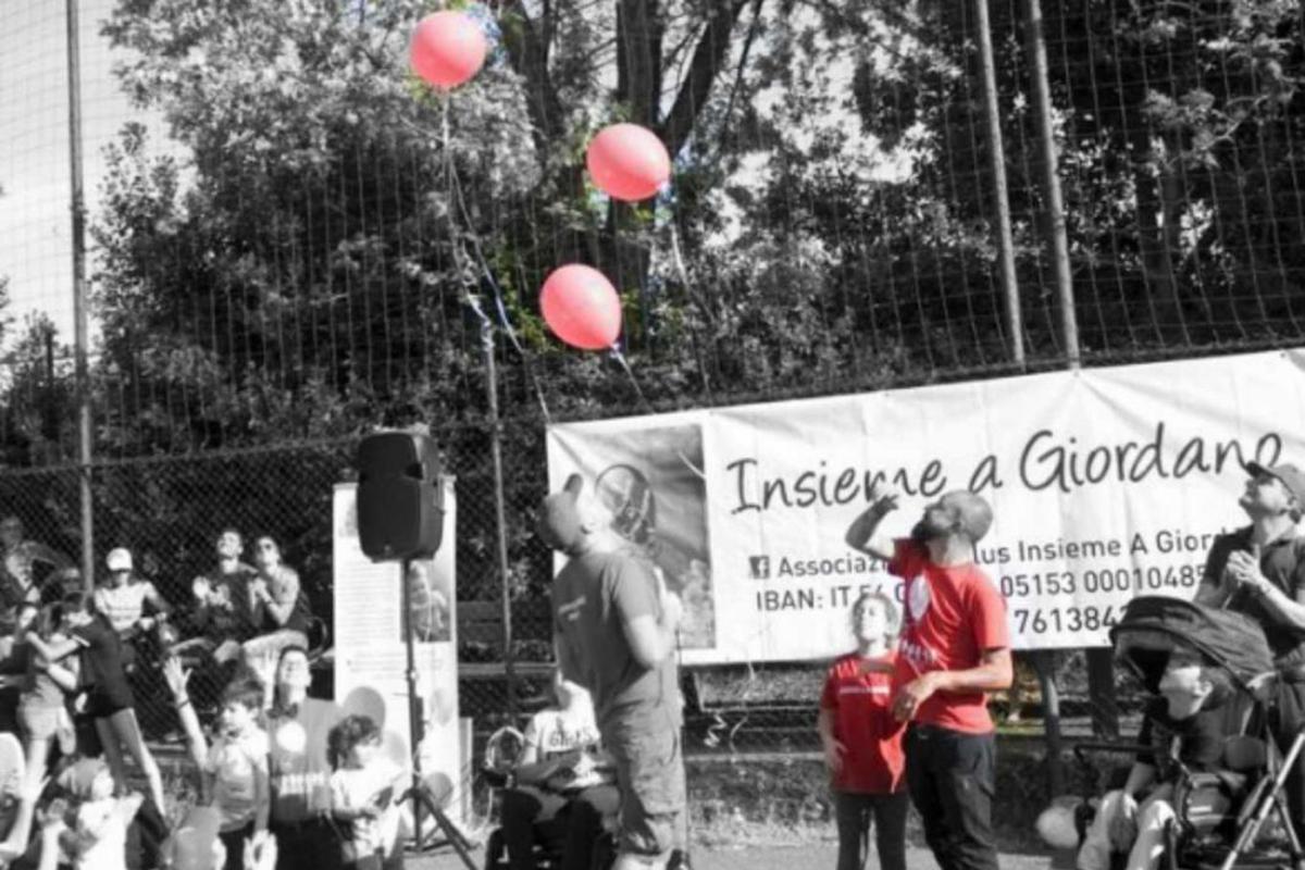 Palloncini in aria per Giordano